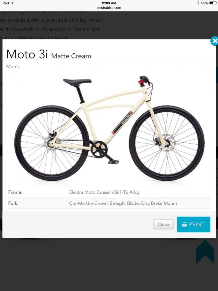 Electra Moto 3i. Dream bike. Sick!