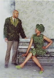 swamp thing & ms. kudzu.  #costume