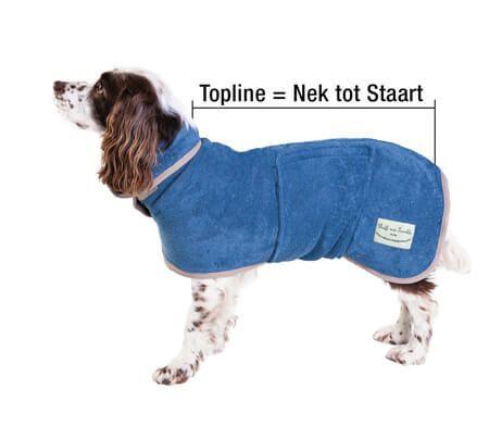De Hondenbadjas Hondendroogjas van Ruff And Tumble, uit dikke, katoenen badstof die honden lekker warm en droog houdt. Ideale badjas na een natte wandeling.