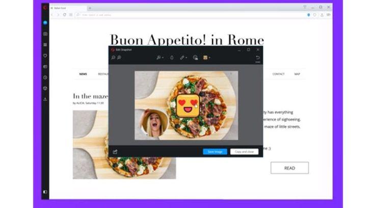 Opera añade funciones para hacer capturas de pantallas con selfies y pegatinas - WWWhat's new (blog)