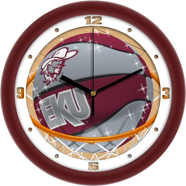 Mens Eastern Kentucky Colonels - Slam Dunk Wall Clock