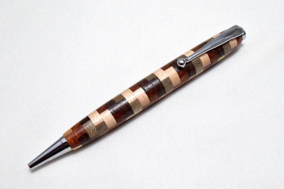 【寄木】手作り木製ボールペン スリムライン CROSS替芯|文房具・ステーショナリー|micchi-|ハンドメイド通販・販売のCreema
