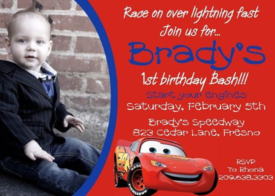 Best 25 Cars birthday invitations ideas – Disney Cars Birthday Invites