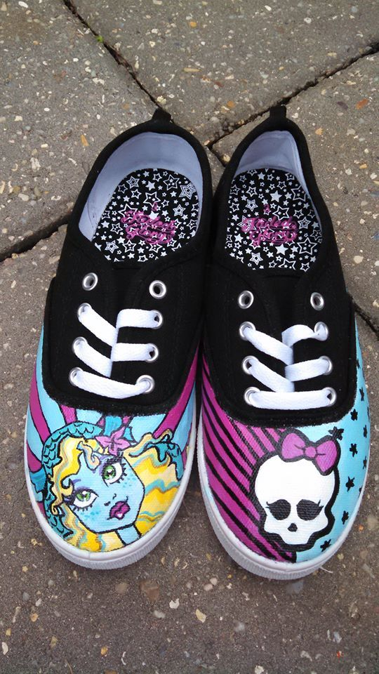 Painted Monster High Shoes by