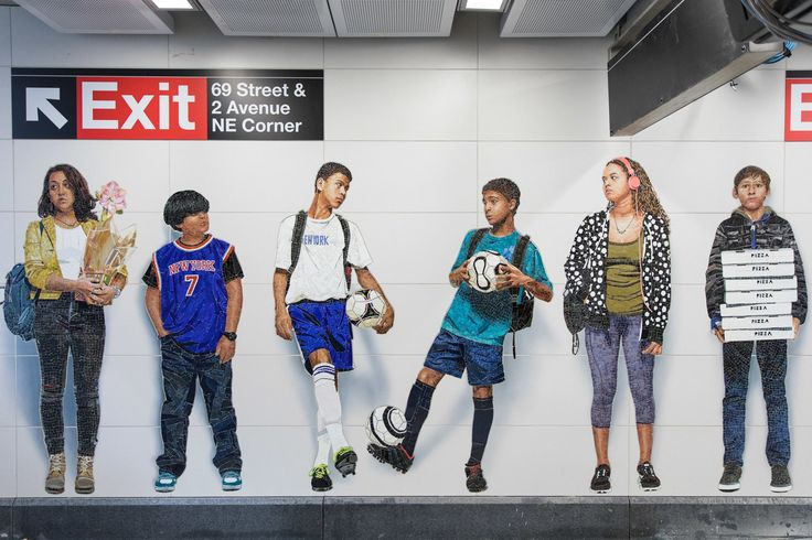With four new stations as blank canvases, Chuck Close, Vik Muniz, Jean Shin and Sarah Sze celebrate the culture and community of New York City.