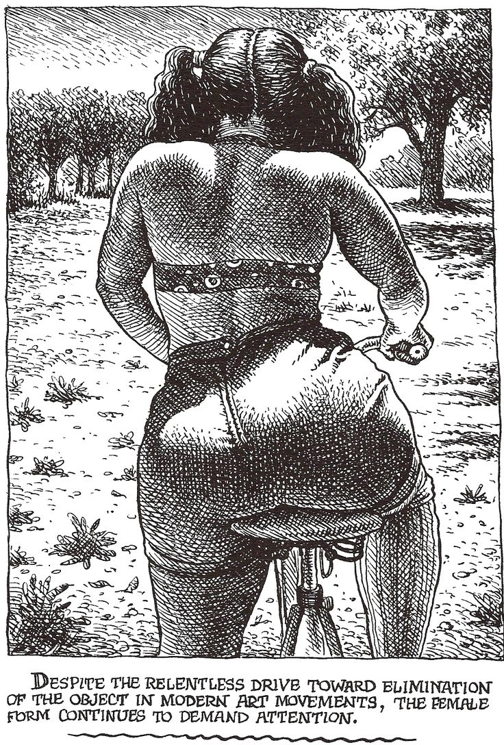 "Robert CRUMB 1996 - #12 from ART & BEAUTY MAGAZINE #1 - Fantagraphics Books, Washington U.S.A. ""… continues to demand attention."""