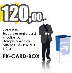 Espositore CARD BOX in polionda con stampa diretta UV a partire da 120,00 Cad.