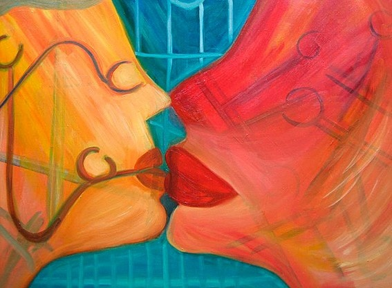 Art Prints Gallery - Mental Kiss (Limited Edition), £195.00 (http://www.artprintsgallery.co.uk/Rina-Bakis/Mental-Kiss-Limited-Edition.html)