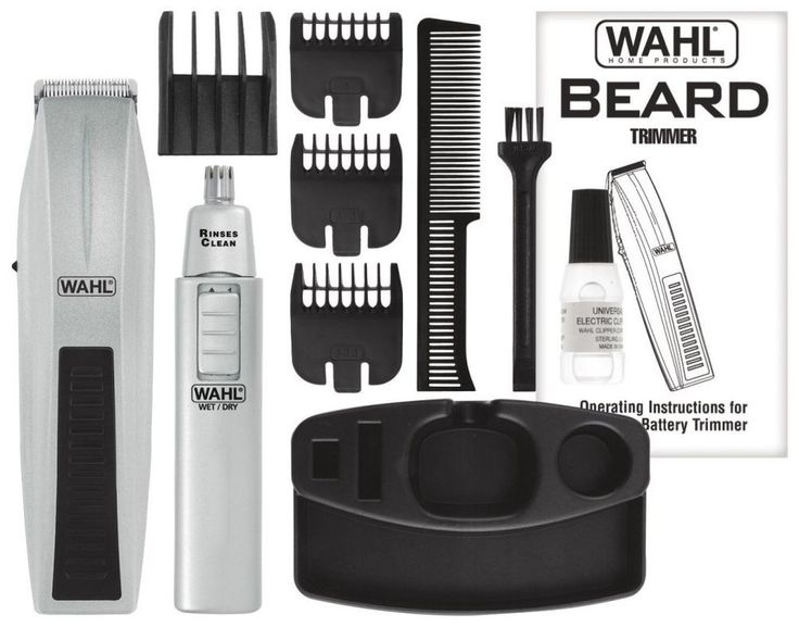 Wahl Beard and Mustache Trimmer Kit Hair Cut Clippers Nose Ear Groomer Shaver  #Wahl