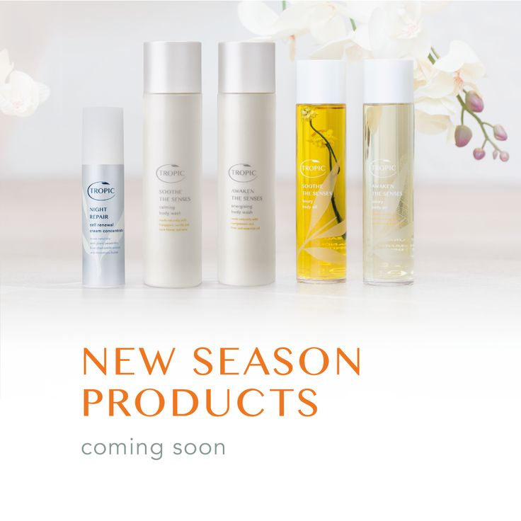 Your new season collection... coming soon! #Skincare #Tropic #Natural #NaturalBeauty http://www.tropicskincare.com/news/tropic/your-new-season-collection