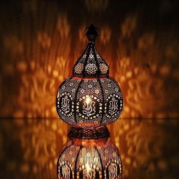 Ganesha Statement Moroccan Lamps Table Lamp Turkish Lamp Handmade Lamp Memorable Gift Night Lamp Spiritual Lamp Home Decor Candle Lamp In 2020 Turkish Lamps Moroccan Lamp Lamp
