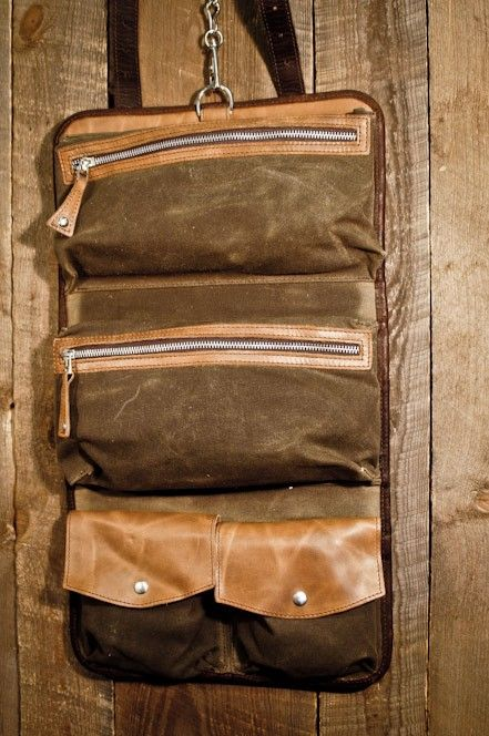 """Waxed Canvas & Leather Toiletry Kit - Use the deal """"georgia"""" to receive 10% off!"""