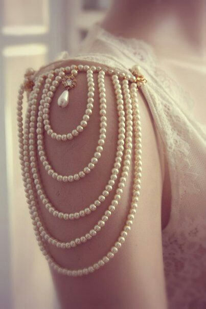 Wedding InspirationIdeas, Wedding Dressses, Fashion, Inspiration, Style, Pearls Sleeve, Jewelry Accessories, Dresses, Cap Sleeve