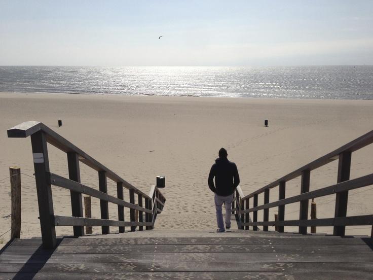 Stairs to the beach 2nd Maasvlakte in Rotterdam
