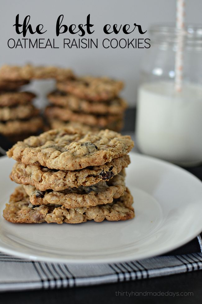 the best ever Oatmeal Raisin Cookies! You will have to make a double batch of these they are so good!