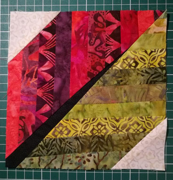 Löv-block av batiktyger. Leaf-block, batik fabriks.