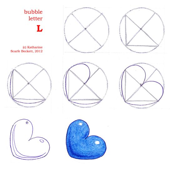 How to Draw Bubble Letters, Page 3