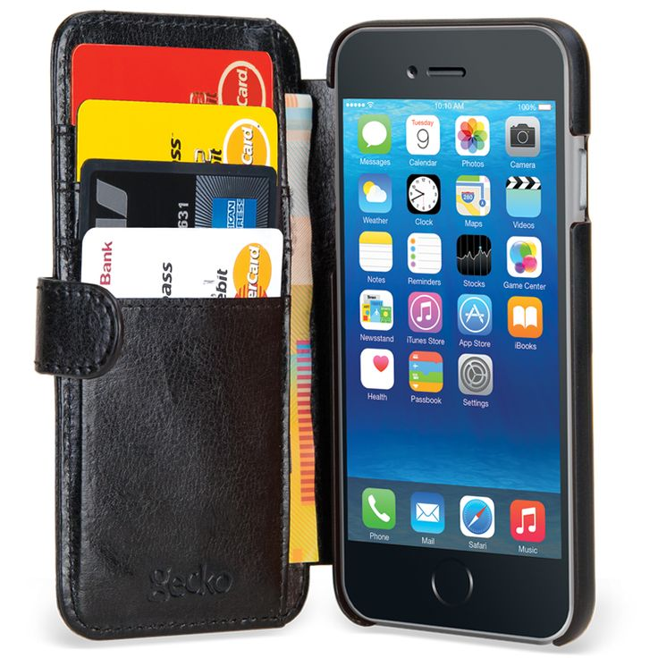 Gecko Wallet iPhone 6 - Black