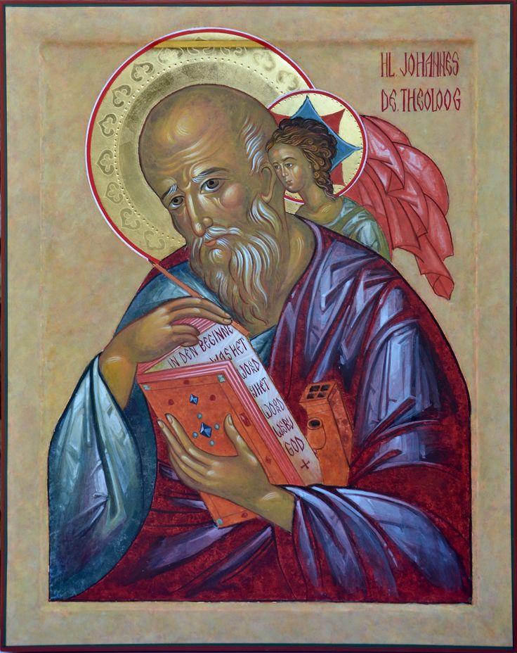 Heilige Johannes de Theoloog 50x40cm. 2016