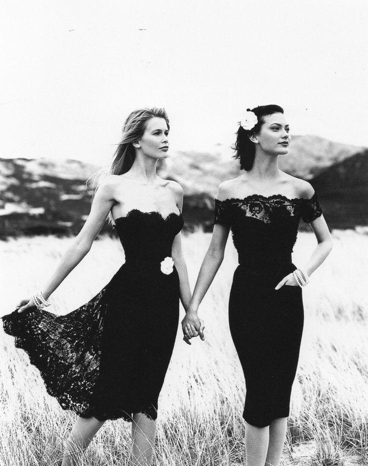 Chanel Campaign 1996/97Photographer: Karl LagerfeldModels: Shalom Harlow, Kristen McMenamy, Claudia Schiffer