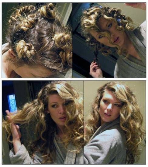 faites des macarons serrés pour onduler vos cheveux sans fer à friser