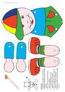 Pupazzo Bambino » Stampa, disegna e crea con Filastrocche.it