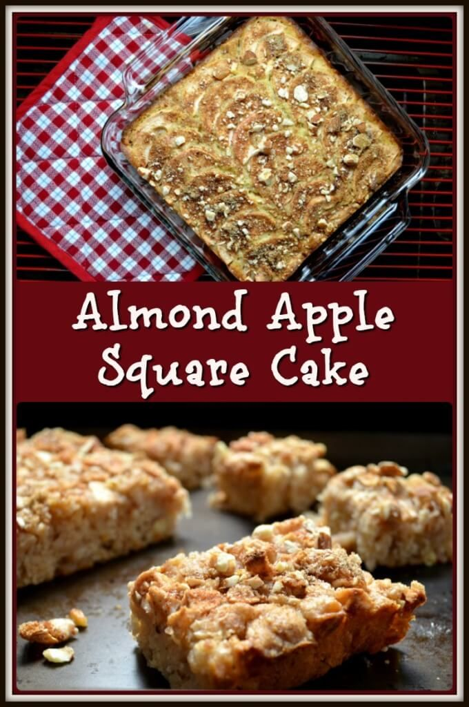 this Almond Apple Square Cake recipe is dicing & slicing the apples ...