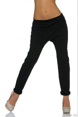 Αθλητικό παντελόνι βράκα - Μαύρο