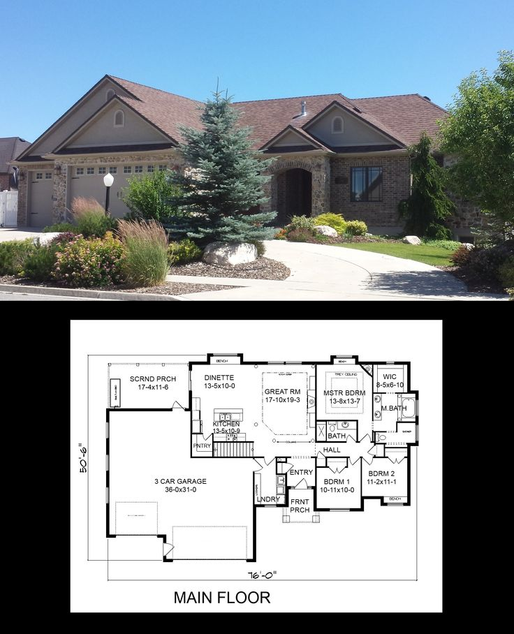 R 1782 pdf 3 car garage cars and porches for Garage plans with porch