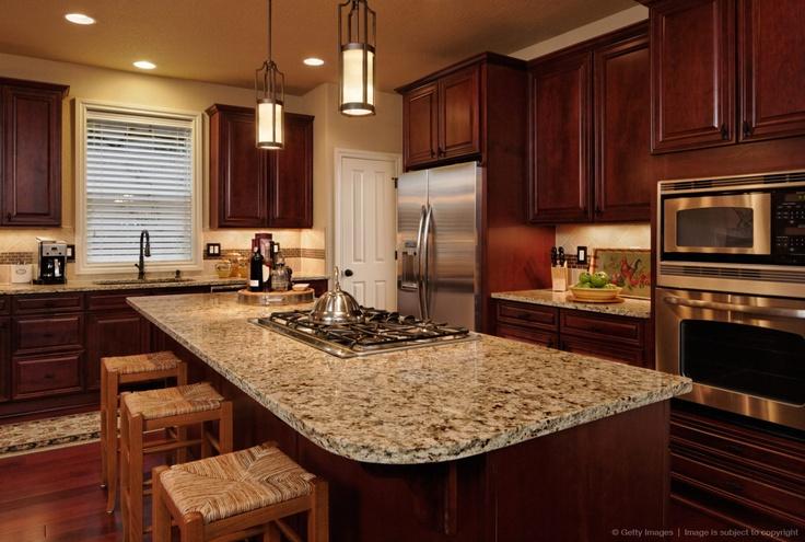 Image detail for -Granite kitchen counter top in designer kitchen.
