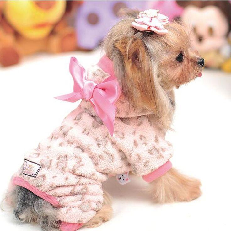 Recém projeto cão quente velo capuz pequeno cão roupas de inverno Leopard impresso suave quente Pet macacões Hoodies casacos Outwear cachorro em Macacões para Cachorros de Casa & jardim no AliExpress.com | Alibaba Group