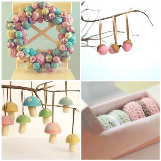Pastel ornamentsDecor Ideas, Crafts Ideas, Pastel Christmas, Pastel Ornaments, Christmas Pastel, Woodland Christmas, Holiday Crafts, Christmas Ornaments, Christmas Ideas