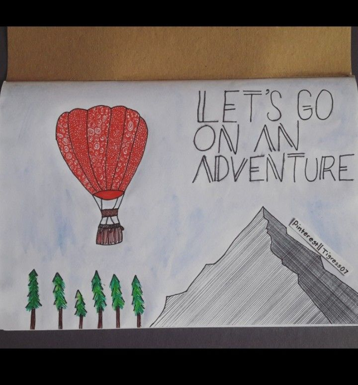 Let's go on an adventure. Pinterest|| @Tigress07. #drawing #art #adventure #wild #mountains #trees 23/03/18