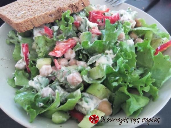 Refreshing chickpea salad full of color #cooklikegreeks #chickpeasalad #pulses