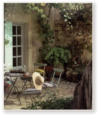 Start some grape so it is ready to climb around the arches of the terrace..... Outdoor Garden Rooms | Outdoor Garden Rooms - French Country