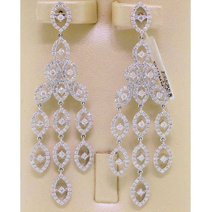 15 best Custom Diamond Drop Earrings images on Pinterest   White ...