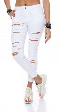 Destroyed jeans damen 44