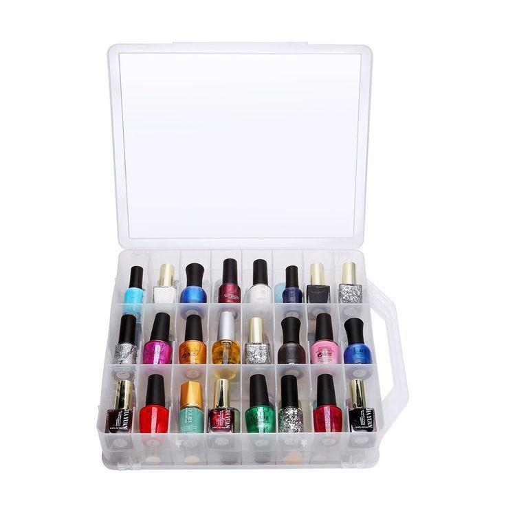 Si eres compradora compulsiva de esmaltes para pintar tus uñas, amarás estos organizadores. #Belleza #NailPolish