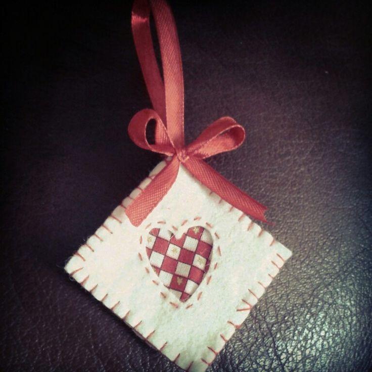 Christmas ornament #felt #decoration