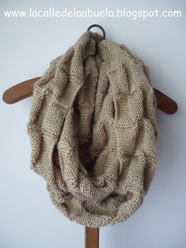 La calle de la abuela: Snood, Infinity scarf... damero