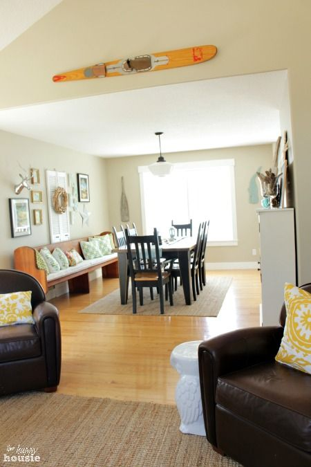 Beachy Style Summer Lake House Tour at The Happy Housie Dining Room 1
