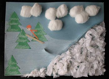 Oh my. This is so me.  I want to make this so my kids are going to :) Ski Jump Art Craft: Winter Olympic Crafts for Kids
