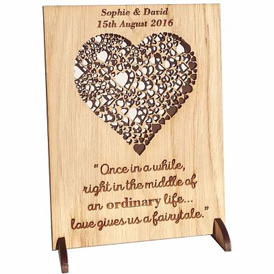 Personalised Wooden Love Plaque