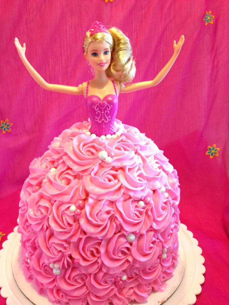 Barbie Cake How-To: You will learn how to make this epic Barbie cake. To make it your will be learning how to carve cake, and decorate your Barbie's dress with buttercream rossettes!