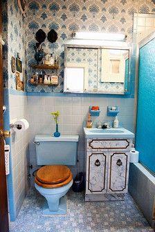 Mosaic ❤ ❤ simple little fresh modern Mediterranean-style toilet toilet bathroom renovation design