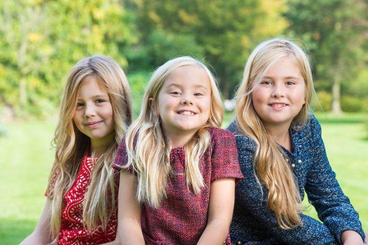 Triple-A: Dutch Princesses Princess Catharina-Amalia, Princess of Orange, Princess Alexia and Princess Ariana...new official photos released in honor of Princess Amalia's 11th birthday on Dec. 7th....12/5/2014
