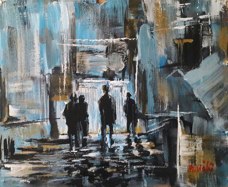 Gar / Terminal by Hüseyin Ünlü Kontrplak üzerine #YağlıBoya / Oil on Plywood 46cm x 40cm 1.750₺ / 525$  #gallerymak #sanat #ig_sanat #soyut #mavi #cagdassanat #contemporaryistanbul #gununkaresi #gununfotografi #yagliboya #sergi #artgallery #abstractart #abstractpainting #oilpainting #artwork #contemporaryart #modernart #fineart #turkey #painting #kunst #arte #art #contemporary #contemporarypainting #artcollector