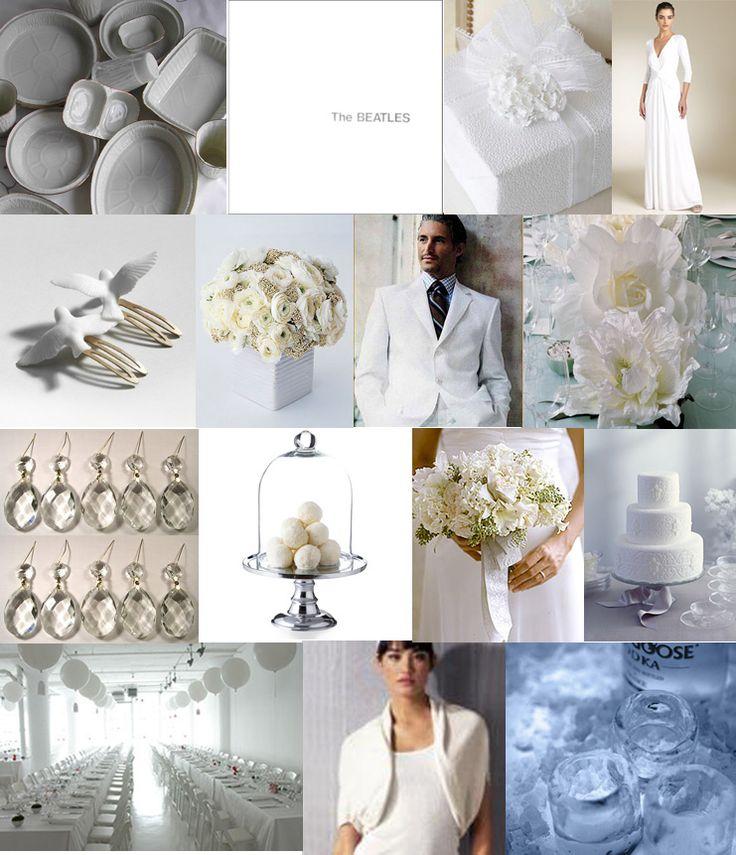 Cool white wedding inspiration.