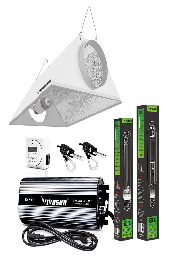 Vivosun Hydroponic 400w 600w 1000w Hps Mh Ballest Grow Light Air Reflector Kit Grow Lights Grow Light Bulbs Hydroponics