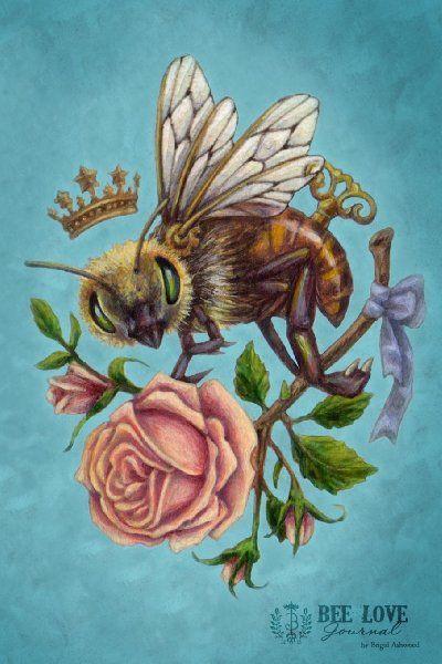 Items Similar To Victorian Steampunk Honeybee Rose Art Print Brigid Ashwood On Etsy
